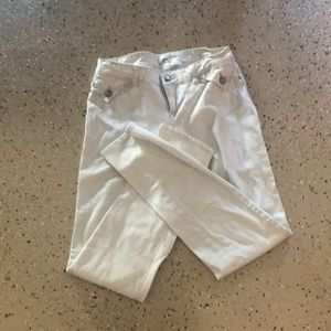 White light weight jeans